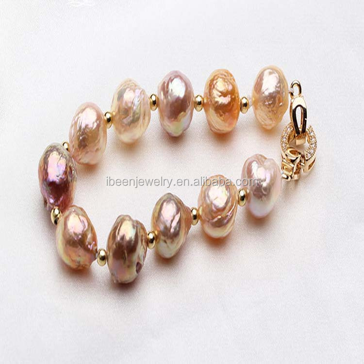 Fashion Latest Design Baroque Natural Pearl Jewelry Bracelet