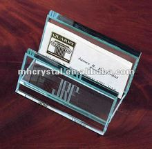 Engraved Glass place card holder MH-B0204