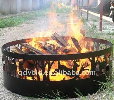 Hot Outdoor Portable Fire Pit with Christmas Deer Designs
