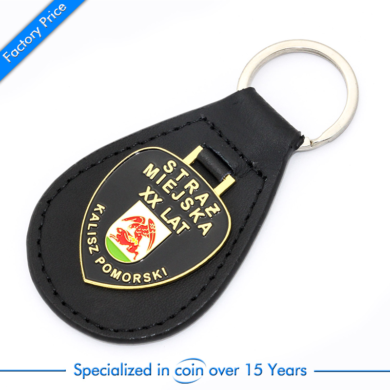 Factory price wholesales custom high quality leather keychain