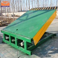 Hydraulic container loading stationary dock ramp lift