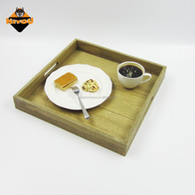 Square natural wood unfinished MDF serving tray