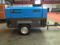 Portable air compressor for water well drilling rig HG375D-8