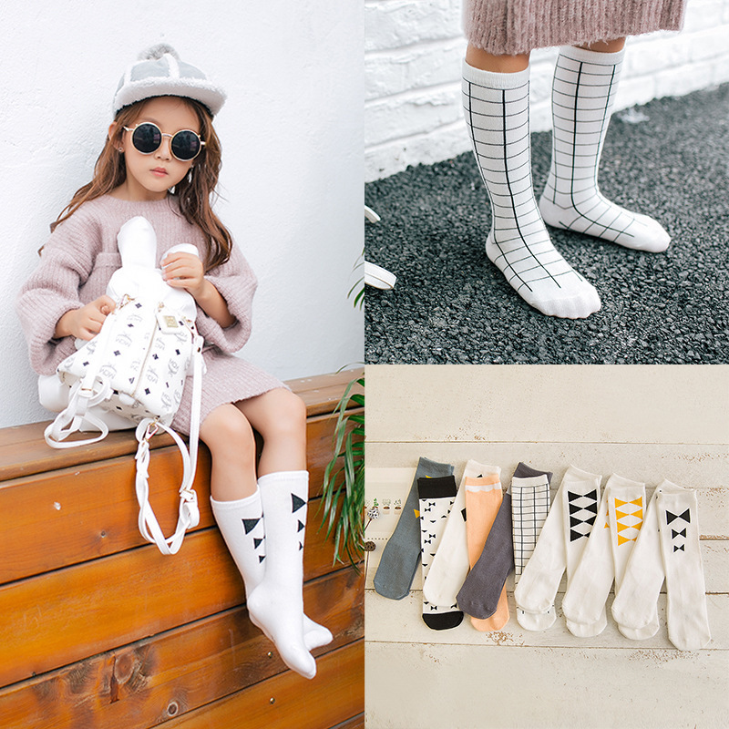 S32379W Cute Cartoons Girls Socks Children Socks for Boys 2016 Spring and Autumn Baby Boys Girls Cotton Knee Socks