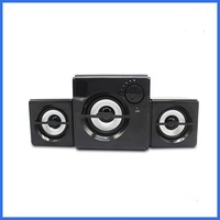Small size speaker classical black multimedia 2.1 speaker
