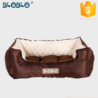 2016 high quality luxury coffee brown dog beds manufacturer