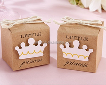 Little Princess Kraft Favor Candy Boxes Paper Gift Box for Baby Shower Decoration(BF927)