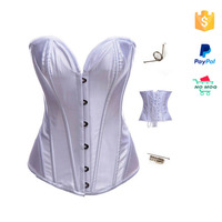 Latest style white sexy bridal top fashion corset sexy xxl movie