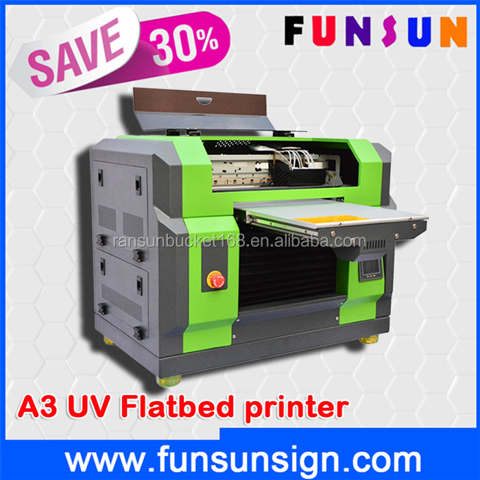 High quality A3/A4 size multifunctional UV led flatbed printer for plastic glass wood carpet marble leather printing