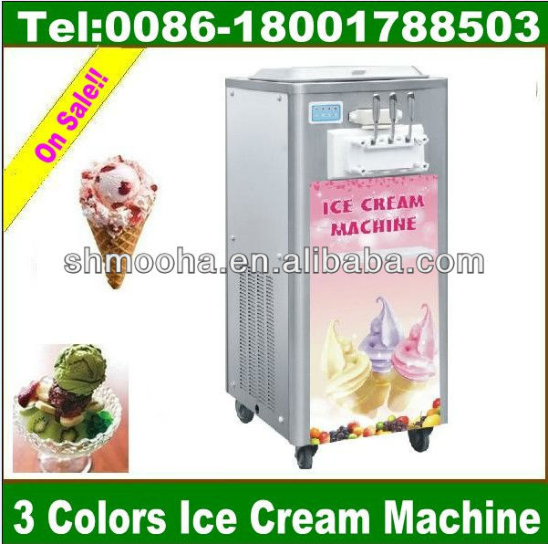 machine for making soft ice cream/3 color/different capacity supplied(CE ,MANUFACTURER LOW PRICE)
