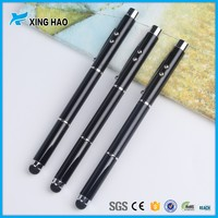 Multifunctional 4 in 1 stylus pen with led light promotional metal pen with stylus for business gift