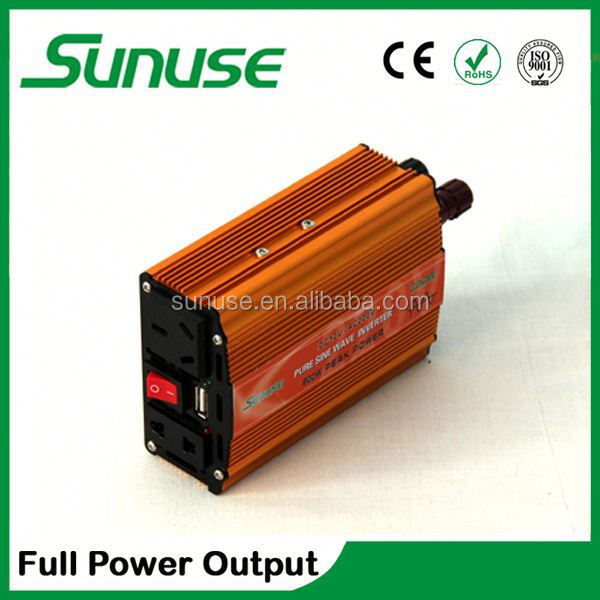 Mini off grid pv hybrid inverter and controller car inverter 300w