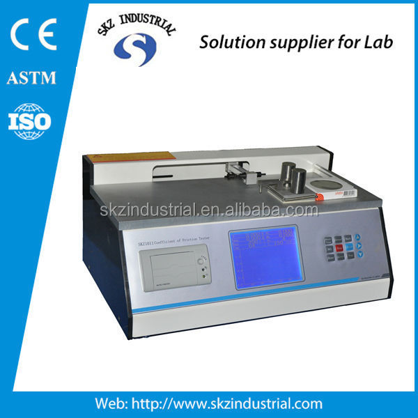 plastic film coefficient friction cof slip and friction tester