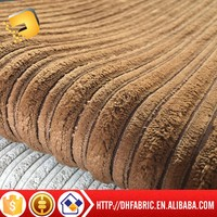 High quality super soft short plush large blade corduroy compound TC sofa cloth fabric