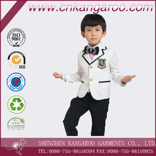 Formal Polyester Boys Kids White Dress Suit