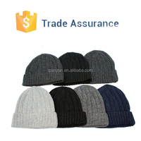 Custom Men's Beanie Skull Cap Wool Hat Ski Wool Knitted Beanies, Men's Wool Beanie Skull Cap