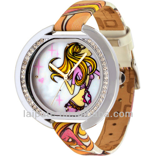 2016 novelty colorful women smart jewelry lady watch stainless steel back