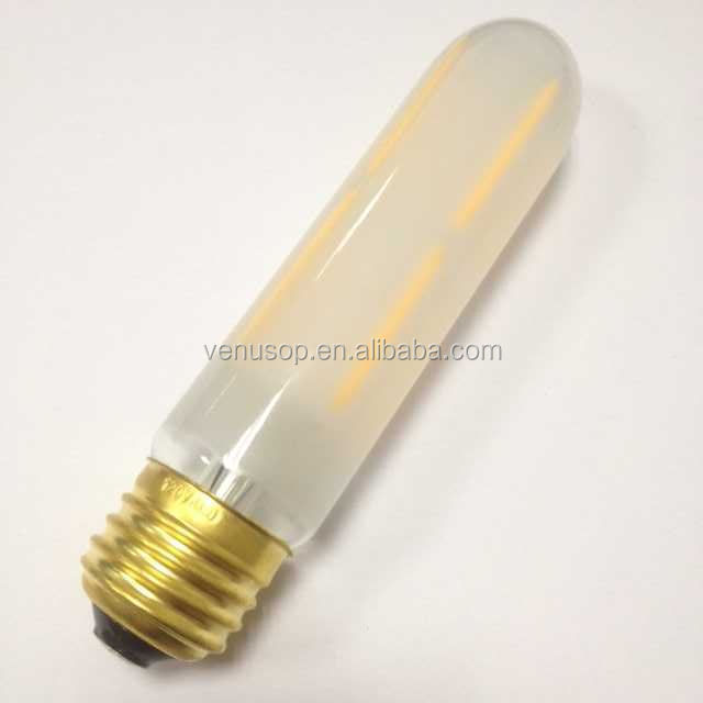 Long tubular T30 E26 Medium base LED filament bulbs manufacturer, 120V/ 240V 360LM T8 Tubular Edison Vintage light bulbs, Dimmab
