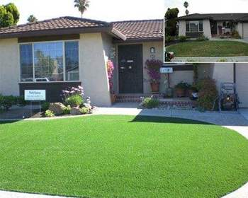 Artificial lawn for garden decorations