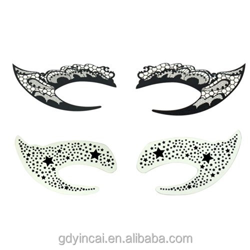 Fashion Eyeliner Stencils Temporary Tattoo Sticker With High Quality