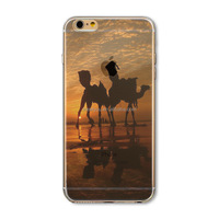 Cheap cell Phone Case Cover For iPhone 5 5S Case Thin Soft Silicon Transparent Camel view custom phone cases for Phone CEUVP