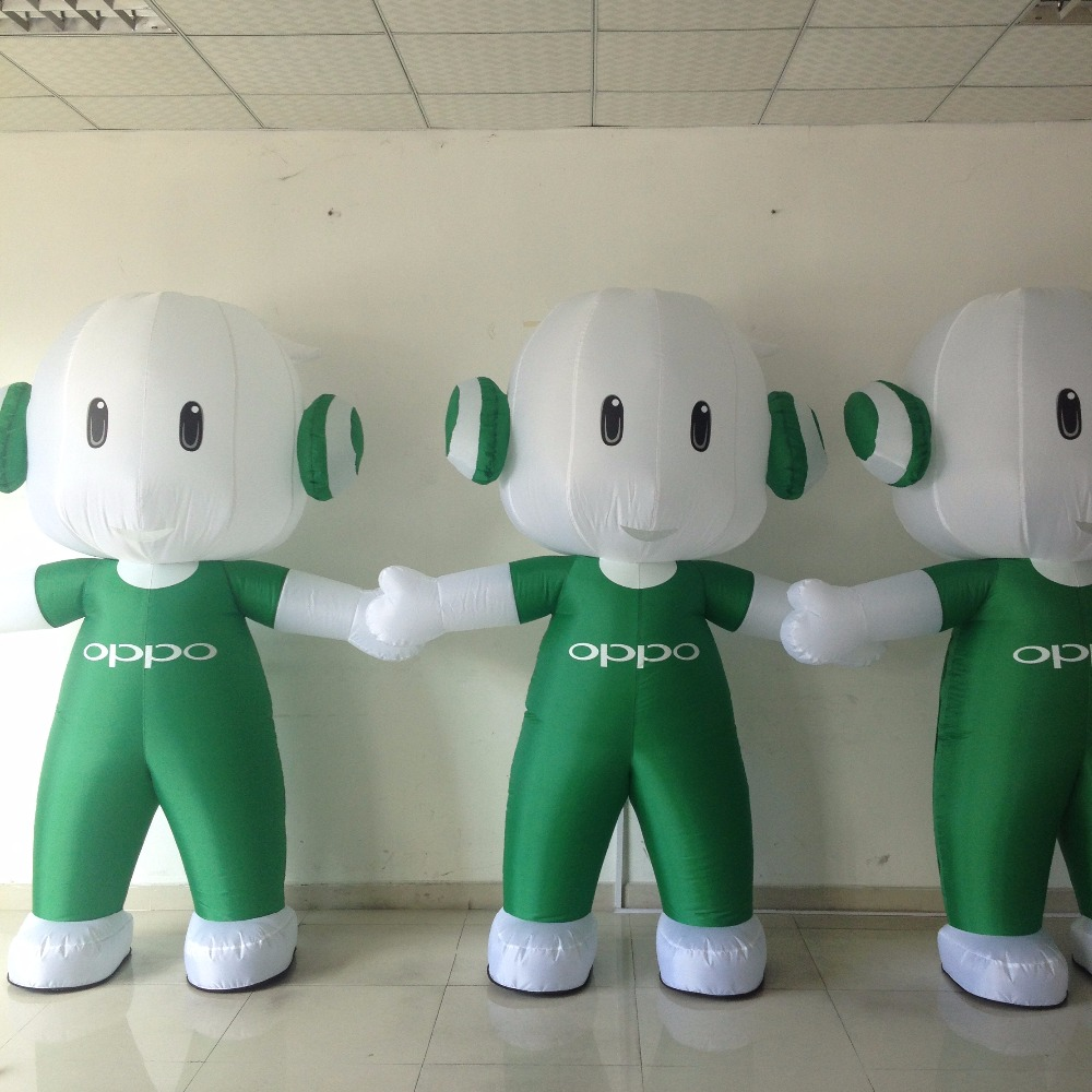 custom advertising inflatable moving cartons for OPPO, custom inflatable costumes