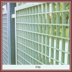 hot dippped galvanized steel fense with grating