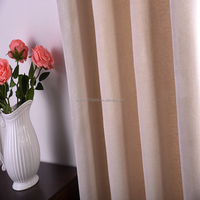 Wholesale 100%polyester plain dyed home/cafe/hotel window curtain