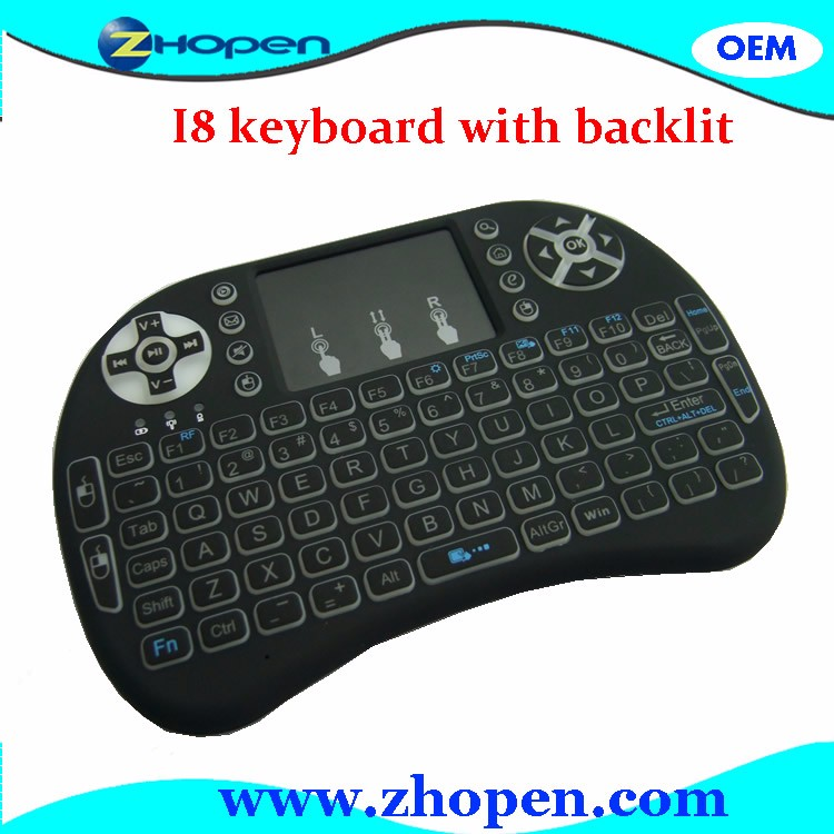 2.4G wireless keyboard and mouse touchpad i8 in china