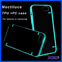 Glow in the Dark Noctilucent Bumper Frame TPU Case cover for iphone 4/4S/5/5S