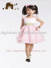 2012 trendy contrast color popular organza girl's party dress F10181