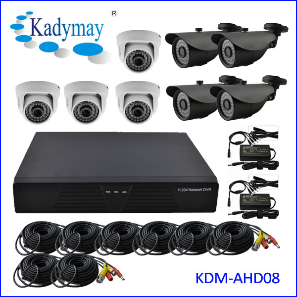 High Quality HD 1080P 960P 720P 8CH AHD DVR Kits