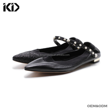 China manufacturer wholesale shoes women new fashion soft sole ladies leather flats