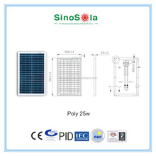 solar power bank charger 25w poly solar panel Whole House Solar Panels Kits for home use ,camping