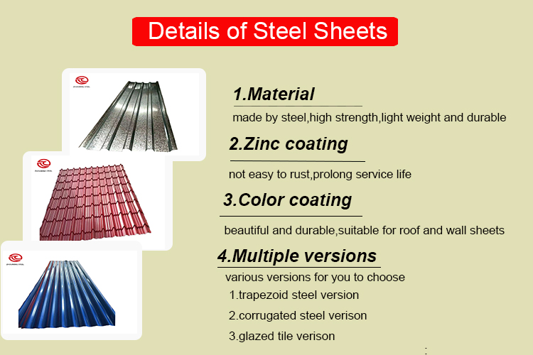 2019material 24 gauge 26 g 28 gauge 2.5 meters galvanized corrugated metal steel roofing sheets