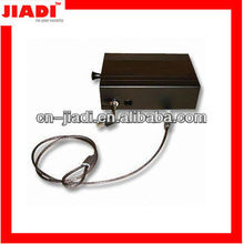 key car safe/gun box/pistol safe/mini portable safe with silver printing and anti-burglary cable