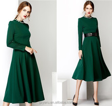 Women fashion long sleeve dress fashionable women maxi dresses 2014 winter