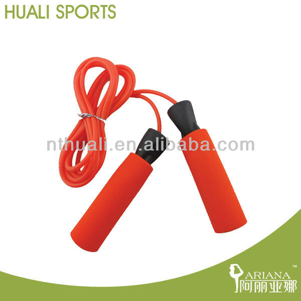 PVC jumprope with foam handle