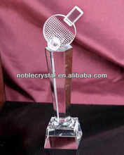 Noble Crystal Table Tennis Trophy