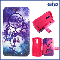 With Glitter With Double Images Leather Wallet Flip Cover for LG G3 Stylus