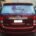 Promotion Eco-solvent ink perforated vinyl window decals