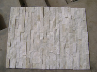 Cheap cultural slate pure white wall cladding with yellow color for exterior decoration