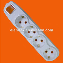 10/16A German 4 Way Extension Power Socket Switch (E7004ES)