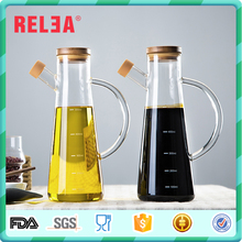 Clear 580ml hermetically sealed oil spray bottle