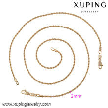 63875 Xuping simple style fashion jewelry gold plated sets without stone