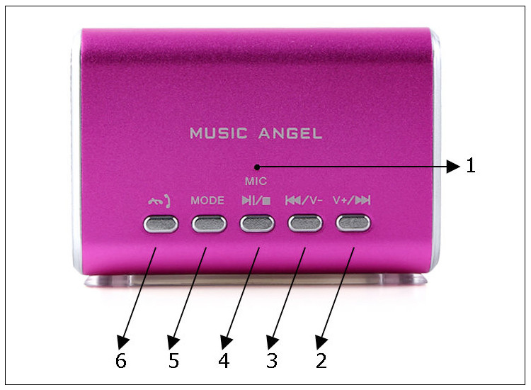 Earphone TF Music Angel bluetooth speaker for mobile phone/laptop
