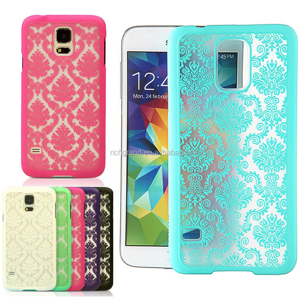 New damask vintage fashion cute back hard case cover for Samsung Galaxy S5 i9600