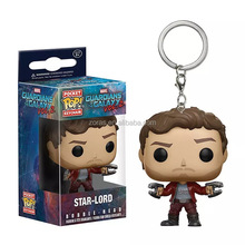 ZORAS 2018 New Arrival MOQ 1PC Stock/CUSTOMIZED Funko Pop Movie Figure of Guardians of the Galaxy with Keyring