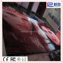 Disco light display screen video flexible backstage rgb led curtain for rental