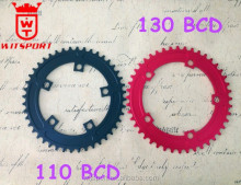 High end CNC bike Components cheap 38t 40t 42t 44t 7075 AL 130bcd Drop-Stop Chainring made in China factory
